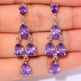 New - Purple Amethyst Chandelier Earrings in Alamogordo, New Mexico