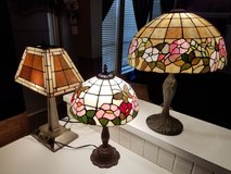 Tiffany Style Lamps Stained Glass (3) in Houston, Texas