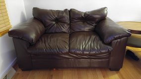 Leather Loveseat Couch in Naperville, Illinois