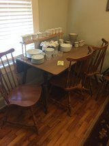 Vintage drop leaf table/ 3 chairs in Fort Benning, Georgia