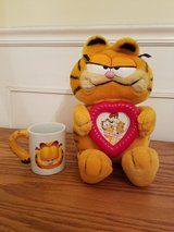 Valentine's Day Garfield Plush and Mug in Naperville, Illinois