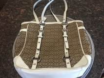 Tan & White Coach Purse in Naperville, Illinois