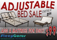 QUEEN ADJUSTABLE BED SALE!!!! $599!!!! ONLINE APPROVAL SLEEPGURUSCA.COM in Fort Irwin, California