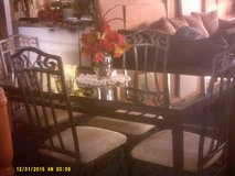 Glass and Iron table and chairs in San Ysidro, California