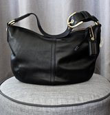 NEW Authentic COACH Black Leather Purse/ Shoulder Bag with Gold Tone Hardware in Okinawa, Japan