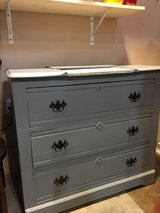 Gray dresser with marble top insert in Fort Campbell, Kentucky