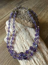 Vintage Aurora Purple Faceted Crystal Bead Necklace in Perry, Georgia