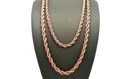 "***BRAND NEW***14K Rose Gold Plated Rope Chain Necklace***18"" in Kingwood, Texas"
