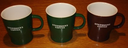 3 Starbucks Coffee Mugs in Grafenwoehr, GE