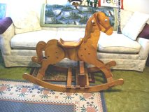 LARGE WOODEN ROCKING HORSE in Quad Cities, Iowa