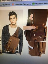 LIKE-NEW Unisex Messenger Sling Bag Backpack, Canvas/Leather in Camp Pendleton, California