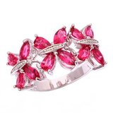 New - Red Kunzite Butterfly Ring - Sizes 5 1/2 and 8 in Alamogordo, New Mexico