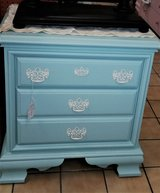 Beautiful Pastel Blue Green Nightstand/Bachelor's Chest - Solid Wood in Wilmington, North Carolina