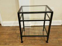Glass/Metal sofa and end table set in Charlottesville, Virginia