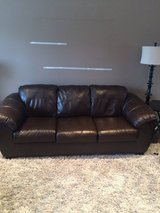 Leather sofa & love seat in Naperville, Illinois
