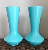 *REDUCED* 15in Wooden Vases. Set of 2. in Okinawa, Japan
