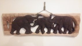 WOODEN HAND CARVED ELEPHANT DECOR FROM THAILAND in Schofield Barracks, Hawaii