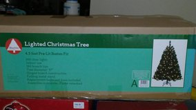 4.5 FOOT PRE-LIT BOSTON FIR CHRISTMAS TREE - REDUCED! $35 TO $30!!! in Okinawa, Japan