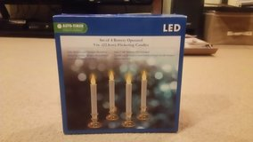 CHRISTMAS FLICKERING CANDLE - 9 INCH - BATTERY OPERATED - SET OF 4 - CURRENTLY HAVE 2 BOXES - RE... in Okinawa, Japan