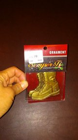 CHRISTMAS - USMC ORNAMENT - COMBAT BOOTS in Okinawa, Japan