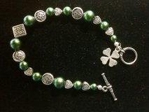 St. Patrick's day bracelet with hearts and 4 leaf clover in Okinawa, Japan
