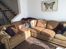 LARGE, CUSTOM-MADE COUCH (Pillows included) in Riverside, California
