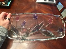 REDUCED: Serving Platter with tulips on it 15 x 7 in Clarksville, Tennessee