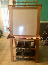 Custom Made Pre-Owned Art Center - with white board, chalkboard, easel, paper holder, p... in Fort Campbell, Kentucky