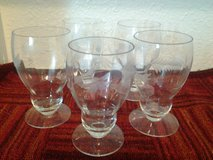 Beatiful Etched Glass Goblets (5) in Livingston, Texas