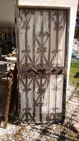 Wrought iron security door with frame, vintage, 36W x 84H including frame in Beaufort, South Carolina