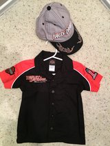 Harley Davidson button shirt and cap in Kingwood, Texas
