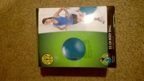 Exercise ball with pump in Columbus, Ohio