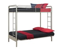 DHP Over Futon Metal Bunk Bed, Silver (2nd of 2 beds available) in Vacaville, California