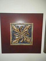 2 Espresso Wood and Ceramic Medallion Pictures in Bartlett, Illinois