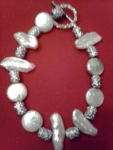 Mixed Pearl and Sterling Silver Bracelet in Barstow, California
