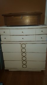 Large 5 Drawer Wood Dresser with Original Hardware in Perry, Georgia