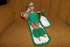Barbie Doll Exercise Suit Crochet Outfit Handmade in Belleville, Illinois