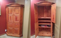 Solid Wood Corner Armoire in Shorewood, Illinois