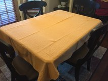 "72"" x 52"" Yellow/Gold Patterned/Textured Table Cloth in Naperville, Illinois"