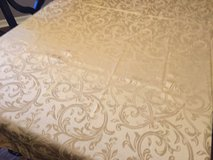 "58"" x 82"" Gold Damask Tablecloth in Naperville, Illinois"