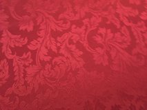 """60"""" x 102"""" Cranberry Wine Colored Damask Table Cloth in Naperville, Illinois"""