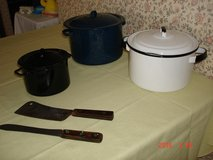 Old pots and a few really old knives in Orland Park, Illinois