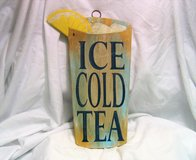 """Iced Tea Kitchen Bar Outside Decor Plaque Wall Hanging Engraved 12"""" in Kingwood, Texas"""