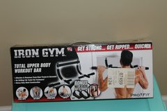 Iron Gym upper body workout bar in Fort Benning, Georgia