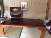 Japanese table and chair pair in Okinawa, Japan