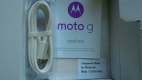 Glass screen protector and data cable for 3rd Gen Moto G in Hinesville, Georgia