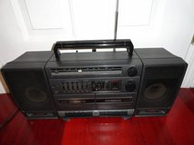 VINTAGE GE 3-5697A PORTABLE COMPONENT STEREO SYSTEM BOOMBOX in Fairfield, California