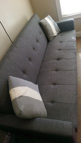 Modern grey couch in Dothan, Alabama