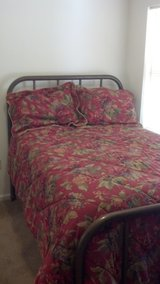 Full Size bed with Brass Head/Foot boards in Fort Rucker, Alabama