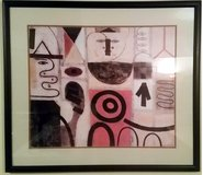 The Seer (Adolph Gottlieb) Large ABSTRACT EXPRESIONISM Framed ART in Morris, Illinois